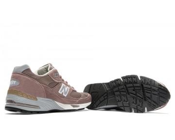 New balance chaussures unisex 991 pigskin casual cappuchino et argent M991-180