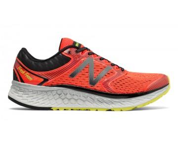 New balance chaussures pour hommes fresh foam 1080v7 running alpha orange et hi-lite M1080-361