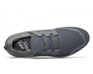 New balance chaussures pour hommes fresh foam cruz course gunmetal et blanc MCRUZ-366