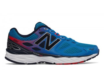 New balance chaussures pour hommes 680v3 running bleu et rouge M680-398