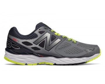 New balance chaussures pour hommes 680v3 running gris et firefly M680-399