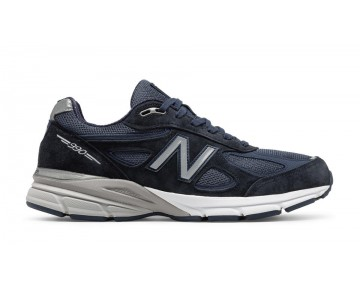 New balance chaussures pour hommes 990v4 running marine et argent M990-422