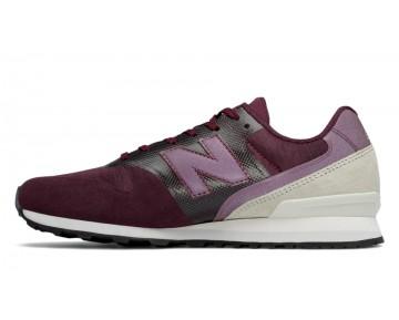 New balance chaussures pour femmes 996 lifestyle bourgogne et le riz blanc et tan WR669-341
