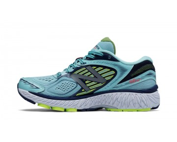 New balance chaussures pour femmes 860v7 course foncé violet et pigment et lime glo W860-151