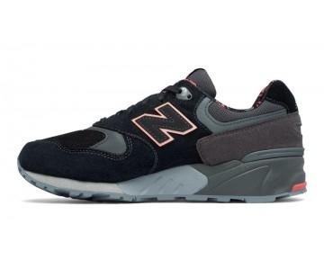 New balance chaussures pour femmes 999 suede lifestyle noir et bleached sunrise et steel WL999-066