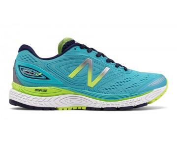 New balance chaussures pour femmes 880v7 course vivid ozone bleu et lime glo et pigment W880-157