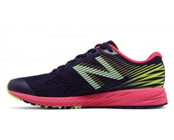 New balance chaussures pour femmes 1400v5 course foncé denim et brillant cerise et lime glo W1400-111