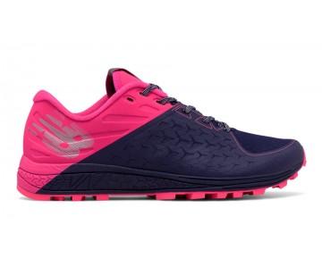 New balance chaussures pour femmes vazee summit trail course foncé denim et alpha rose et metallic argent WTSUM-193