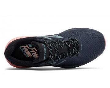 New balance chaussures pour femmes fresh foam hierro running outerspace et noir et bleached sunrise WTHIER-086