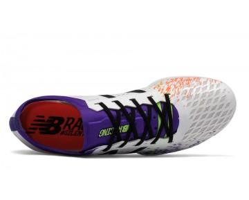 New balance chaussures pour femmes md800v5 spike course blanc et violet WMD800-099