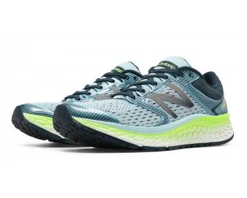 New balance chaussures pour femmes fresh foam 1080v7 running ozone bleu glow et lime glo W1080-075