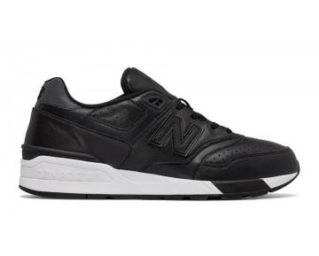 New balance chaussures unisex 597 leather lifestyle noir ML597-056