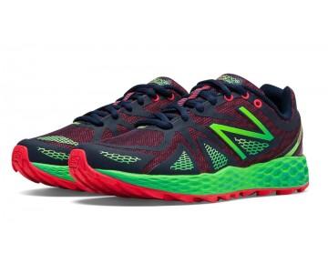 New balance chaussures pour femmes fresh foam 980 course brillant cerise et lead et vert flash WT980-080