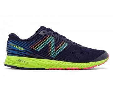 New balance chaussures pour hommes 1400v5 course foncé denim et electric bleu et lime glo M1400-154