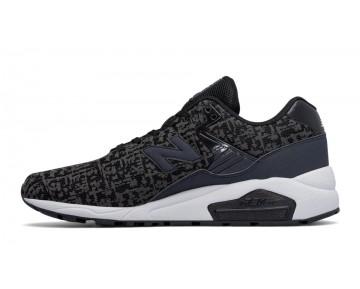 New balance chaussures unisex 580 90s running noir et blanc et steel MRT580X-052
