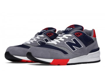 New balance chaussures unisex 597 lifestyle gris et bleu noir et rouge ML597-058