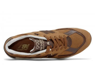 New balance chaussures pour hommes 990v2 casual marron et blanc et marron M990-074