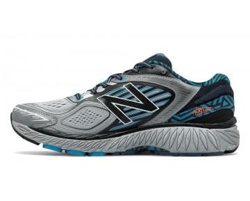 New balance chaussures pour hommes 860v7 course noir et metallic argent et bleu infinity M860-070