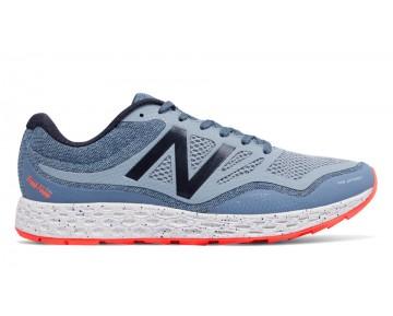 New balance chaussures pour hommes fresh foam running foncé porcelain bleu et alpha orange MTGOBI-113