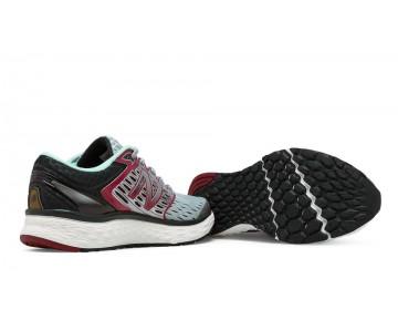 New balance chaussures pour hommes fresh foam 1080 running gris et bourgogne M1080B-105