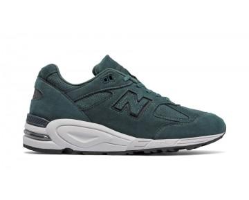 New balance chaussures pour hommes 990v2 lifestyle foncé vert et foncé gris M990-075