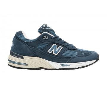 New balance chaussures pour hommes 991 lifestyle poussièrey bleu et le riz blanc M991-076