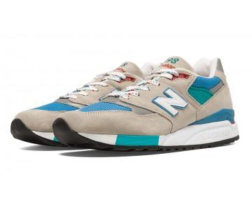 New balance chaussures pour hommes 998 sand et bleu surf et sea glass M998-089