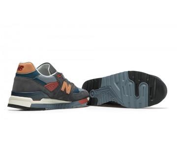 New balance chaussures pour hommes 998 foncé gris et tan et bourgogne M998-090